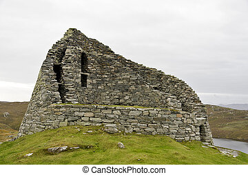 ancient stone housing in scotland