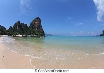 White sand on a beach