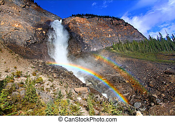 Takakkaw Falls Rainbow in Canada - Double rainbows in the...