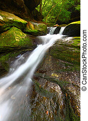 Caney Creek Falls Cascade in Alabama