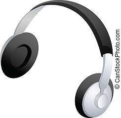 Headphones icon vector stock - Headphones icon vector stock...