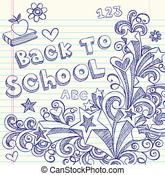 Back to School Sketchy Doodles - Hand-Drawn Back to School...