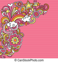 Psychedelic Notebook Doodles Vector