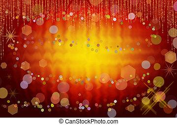 Abstract christmas background - Abstract christmas lights as...