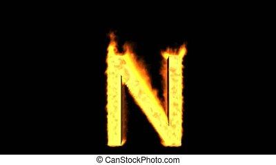 fire letter N.