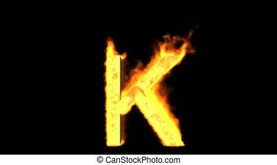 fire letter k