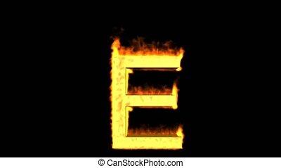 fire letter E,uppercase