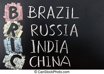BRIC acronym for  Brazil, Russia, India and China