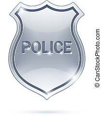 police badge vector illustration isolated on white...