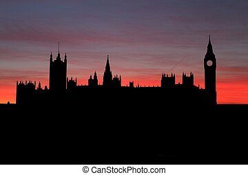 Houses of Parliament London at sunset