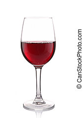 isolated wineglass on white - isolated wineglass