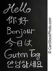 Hello in different languages - Hello written in different...