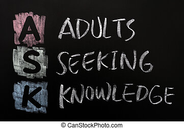 Acronym of ASK - Adults seeking knowledge