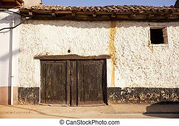 Old door of a poor house