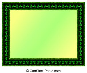 St Patricks Day Shamrock Bckground - This illustration...