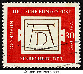 Postage stamp Germany 1971 Albrecht Durers signature -...
