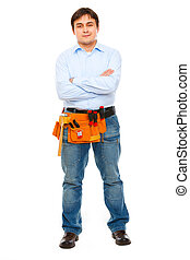 Full length portrait of construction worker