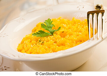 Risotto with saffron - delicious risotto with saffron and...
