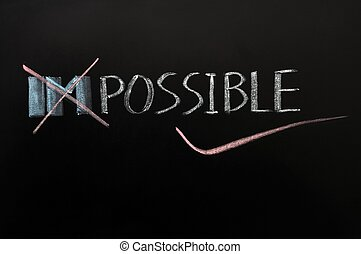 Conceptual image of the word impossible