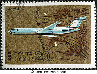 USSR - CIRCA 1969: A stamp printed by USSR shows long-range...