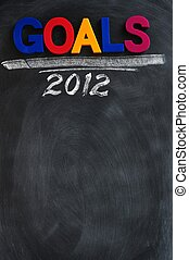 Goals 2012 background with copy space