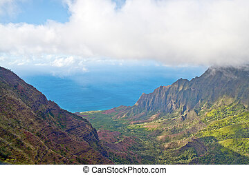 Kalalau Valley Lookout - Kauai, Hawaii - Kalalau Valley on...
