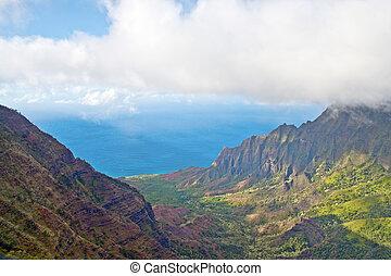 Kalalau Valley Lookout - Kauai, Hawaii - Kalalau Valley on...