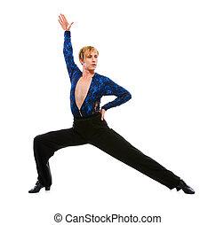 salón de baile, macho, bailarín, Posar,...