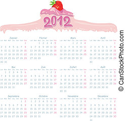 2012 Calendar French - 2012 French Calendar with gourmet...