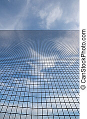 Abstract Backstop Net Background - Looking straight up at...