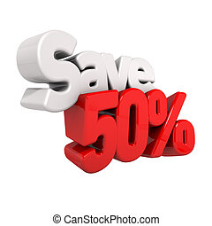 fifty Percent Price Reduction And Save