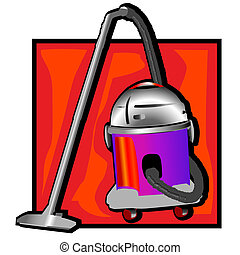 retro vacuum cleaner clip art