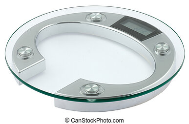 weighing scales - one weighing scales made with glass and...