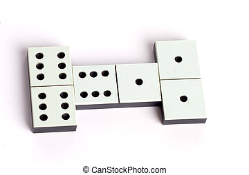 abstract, isolated, dominoes, retro, sport, number, play