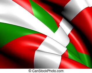 Flag of Basque Country. Close up.