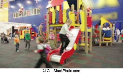 children in a mall