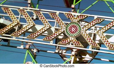 Carnival ride spinning