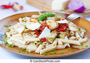Pasta dish - Closeup image of a pasta dish with sundried...