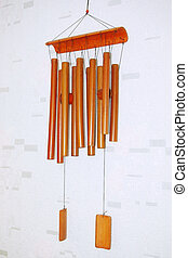 Wind Chimes - bamboo wind chimes hanging on the wall