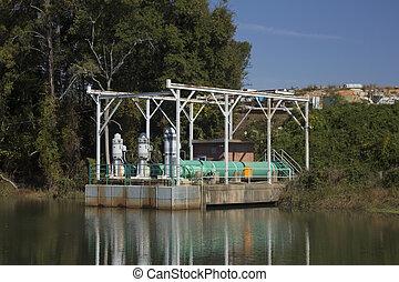 utility pumping station - municipal utility pumping station...