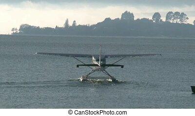 Float Plane Lake Rotorua - Float plane on Lake Rotorua on a...
