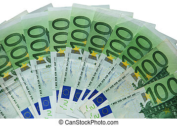 Hundred - Fields with 100 euros of notes