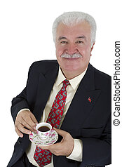 Turkish Coffee Drinker Business Man - Turkish business man...