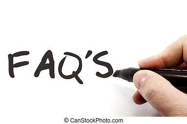 FAQ's on Dry Erase Board - FAQ's or frequently asked...