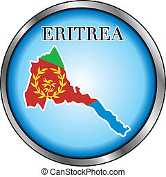 Eritrea Round Button - Vector Illustration for the country...