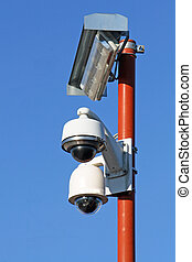 security cameras for the safety of citizens - two security...