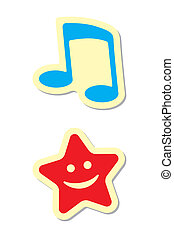 Note and Star Icons