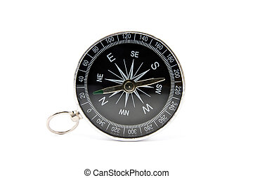 compass isolated on the white - Old compass isolated on the...