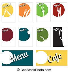 bright fun menu set