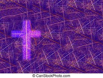 cristiano, croce, fondo